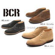 【BCR】 BC-025 リアルレザー プレーントゥ チャッカブーツ 全3色 メンズ