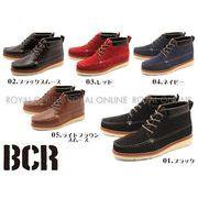 10%OFF!【BCR】 BC-600 レースアップ カジュアル ブーツ 全5色 メンズ