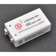 大容量650mAh! 006P(角型9V)規格互換充電池 リチウムイオン充電池