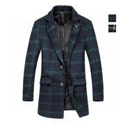 メンズ ロング丈 カジュアル ビジネス 紳士 通勤 チェック柄コート メンズ アウター トレンチコート