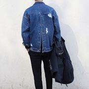 初回送料無料 男女兼用 ゆったり ジージャン ジャケット 大人気 全2色 Vxkuw-1611aku224 新作