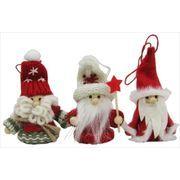 丸和貿易 クリスマス飾り ノースクリスマス レッドスターサンタ 3個組