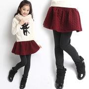 人気のスカート付きレギンス!秋冬使える暖か裏起毛タイプ女の子のオシャレアイテム