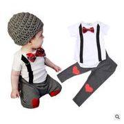 ★韓国スタイル★ベビー・新生児服★赤ちゃんファッション2点セット★連体服+ズボン