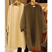コート♪ゆったり ポケット スリム◆色品番1/ホワイト #74159