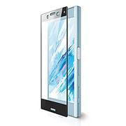 エレコム Xperia X Compact用フルカバーフィルム/フレーム付/反射防止/指紋防止 PM-SOXCFLFRBK