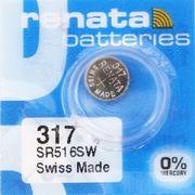RENATA 317 SR516SW 0%Mercury スウォッチ スキン シリーズ 純正電池317