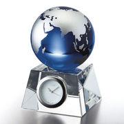(ステーショナリー)(クリスタルオーナメント)ナルミ ブルーアースデスククロック(S)GW1000-11050