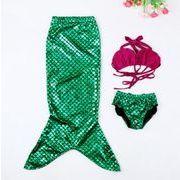 夏の定番★★子供水着☆☆爽やかな水着セット☆ 3点   人魚水着セット★美しいデザイン100-150CM