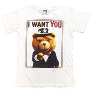 テッド Tシャツ 半袖 白 M シルクハット ウルトラクイズ