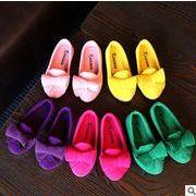 【子供靴】★可愛いデザインの子供靴&★ぺたんこ 暖かい★子供皮靴★女の子★5色★サイズ21-36
