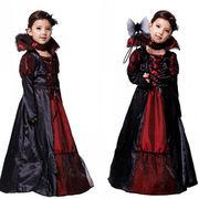 ハロウィン衣装 吸血鬼 悪魔 女の子 ワンピース 子供用 ジュニア 仮装 ハロウィーン