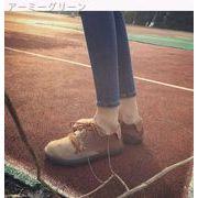 韓国★日系★原宿スタイル★アンティーク調★女★かわいい★文学の★大★フラット★靴