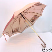 【日本製】【雨傘】【長傘】甲州産ホグシ織両面舞踏会柄軽量金骨ジャンプ傘