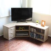 テレビ台 コーナー 3点セット 木製  オーク  SZ-TS3OAK