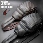 【RED CROW】  RED CROW メッシュ編み込み BODY&リュック BAG / ボディバッグ リュック
