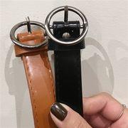 10611046 無地シンプルレトロスタイル金属円環ベルト