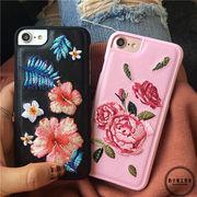韓国★アンティーク調★花の刺繍★6s★携帯電話ケース★iphone6★レザー★品質★保護