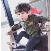 韓国子供服キッズ 子供 カーキジャケット ミリタリー 可愛い 男の子の服 長袖 上着 アウター