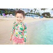 水着 女の子 キッズ 子供服 可愛い スイミング セパレート 上下セット スカット 二点セット