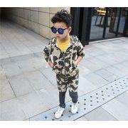 迷彩柄 ジップアップパーカー セットアップ(上下セット)キッズ 子供服 ジュニア・レギンス一体型パンツ