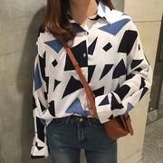 【即納】トップス 柄シャツ シャツ レディース デザイン 長袖