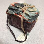 【スポット商品】高級竹カゴ巾着  入荷しました。数量限定品です。カゴバッグ