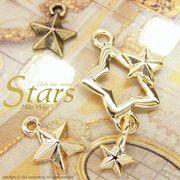 "★L&A Original Parts★Gold&金古美★かわいいスターチャーム♪149 ""Stars"""
