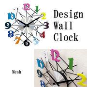【壁掛時計】デザインウォールクロック【メッシュ】