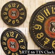 【ROUTE66  RTE TIN CLOCK】ルート66  ティンプレート★クロック【壁掛時計】