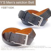 メンズ カジュアルベルト 紳士ベルト 牛革(一部)ベルト ロング 全長120cm★YSBT0100K