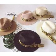 夏新型★韓国風★麦わら帽子★日除け帽★旅行用 親子帽 ジャズ帽子
