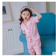 春夏新作子供ファッションパジャマ キッズ 上下セット シャツ+パンツ