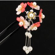 ◆和装小物◆ ヘアアクセサリー  満開桜二又簪