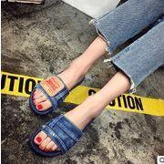 ★激安★セクシーなデザインの靴★OLスタイル★可愛い♪★デニム製 可愛いスリッパ★2色★35-39