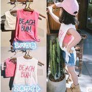 新入荷!!キッズファッション★★夏スタイルキッズセット★★2点セット★袖なしシャツ+チョッキ