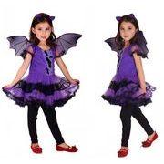 ハロウィン衣装 子供 コウモリ 魔女 悪魔 コウモリ ワンピース 女の子 仮装 キッズ コスプレ コスチューム