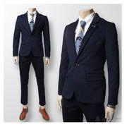 (2枚セット)スーツ(上下セット)♪ネイビー/ブラック2色展開◆【新作】