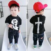 男児 フェイク2点セット セーター 秋服 新しいデザイン レジャー ボトムシャツ 赤ちゃ