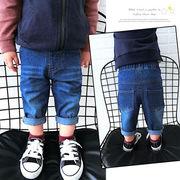 キッズ洋服 男女 パンツ 赤ちゃん ジーンズ 秋服 新しいデザイン ルース 児童 ズボン