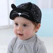 ★同梱でお買得★新作★耳帽子★ベビー帽子★可愛い帽子★コットン★かっこいい★2色