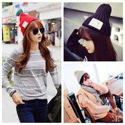 【即納412001】 帽子 レディース ビーニー ニット キャップ 韓国 プファッション 雑貨