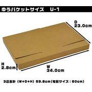 ダンボール箱ゆうパケットサイズ(段ボール箱)(34.0×23.0×2.8cm)(U-1)