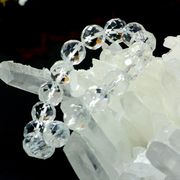 64面カット天然水晶(12mm)ブレスレット