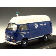 Schuco/シュコー VW T2a ハイルーフ ボックスバン THW TAUCHER ブルー/ホワイト