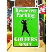 アメリカンブリキ看板 ゴルファー専用予約駐車場