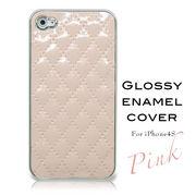 ☆割引キャンペン商品☆GLOSSYエナメルカバー(iphone4、4S対応) ピンク