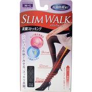 スリムウォーク 美脚ストッキング ブラック・ダイヤ柄 M-Lサイズ
