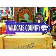 アメリカンブリキ看板 Kansas State Wildcats 道標
