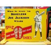 アメリカンブリキ看板 ジョー・ジャクソン -ジャクソンシューズ-